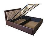 Ліжко з шухлядами для білизни двоспальне з підйомним механізмом Флоренс, фото 5