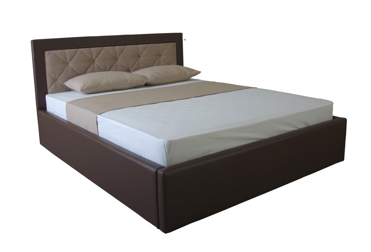 Кровать с ящиками для белья  двуспальная с подъемным механизмом  Флоренс 190х140