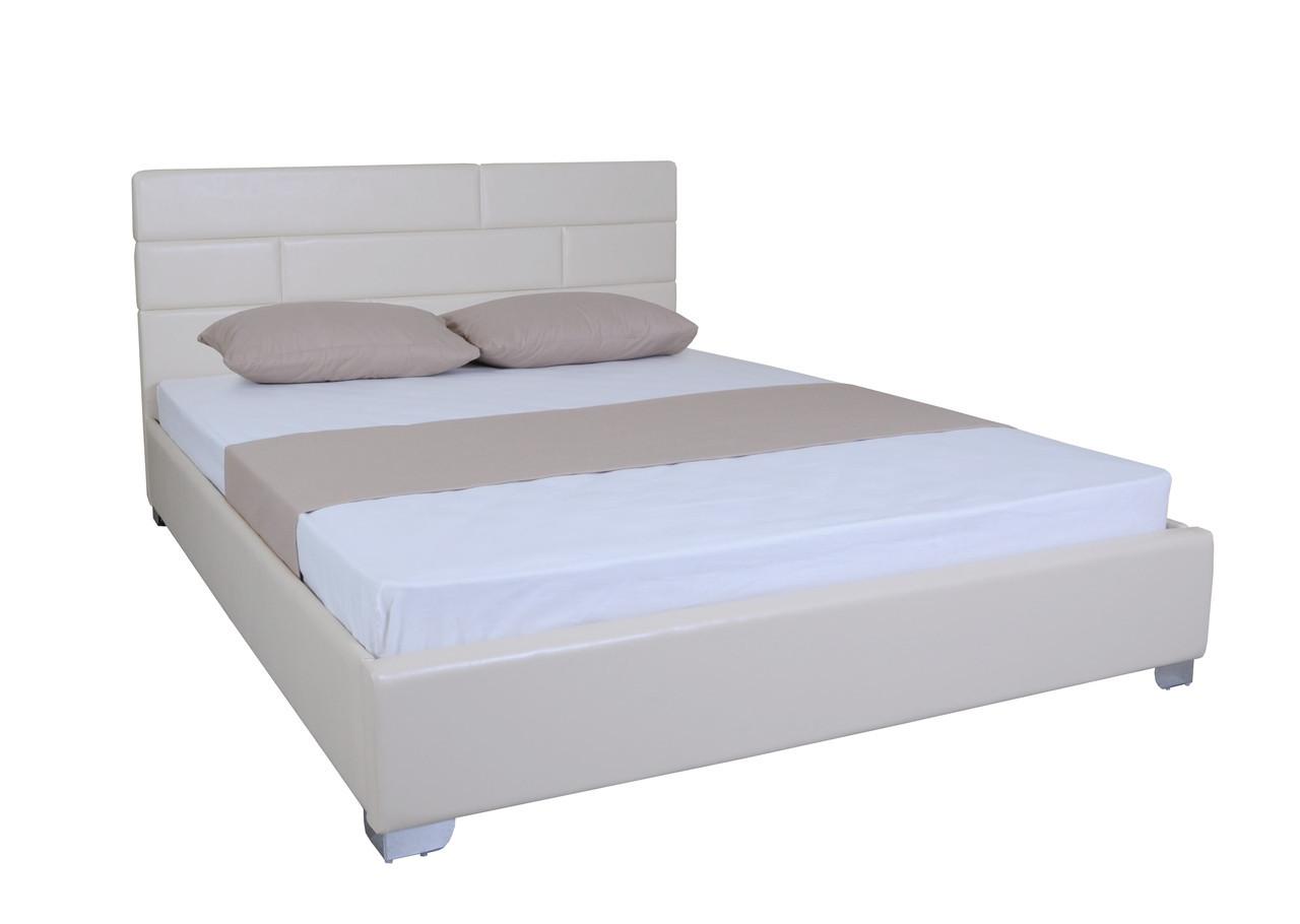 Кровать двуспальная с мягкой спинкой Джина
