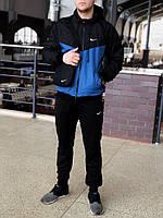 f936f469 Мужской спортивный костюм Nike (black/blue) (ветровка+штаны, БАРСЕТКА В