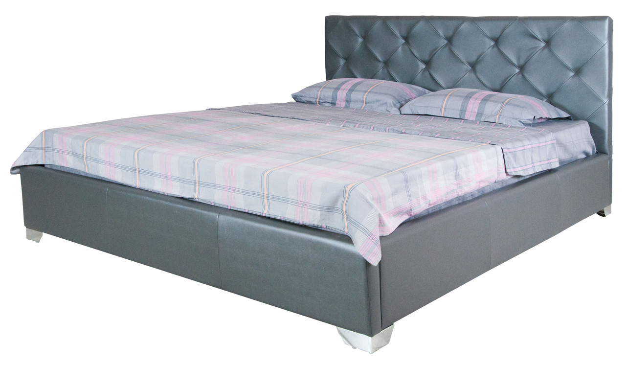 Стильная двуспальная кровать в спальню Моника   190х180