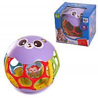 Развивающая игрушка погремушка Логический шар 6695: размер 14см, звук