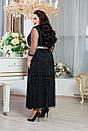 Платье длинное в больших размерах с сеткой сверху 10blr1243, фото 3