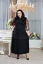 Платье длинное в больших размерах с сеткой сверху 10blr1243, фото 4