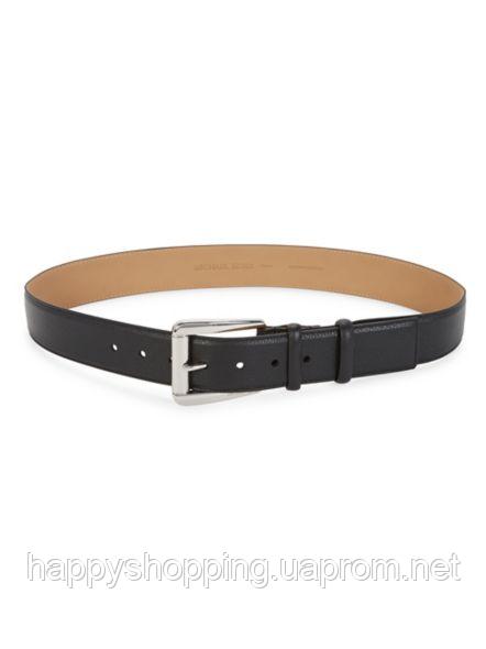 Женский оригинальный кожаный черный ремень  популярного бренда Michael Kors