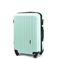 Малый пластиковый чемодан Wings 2011 на 4 колесах зеленый, фото 1