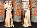 Длинное шифоновое платье с воланами и открытыми плечами 31plt2318, фото 2