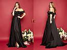 Длинное шифоновое платье с воланами и открытыми плечами 31plt2318, фото 3