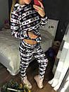 Спортивный женский костюм на меху с узором 11spt548, фото 4