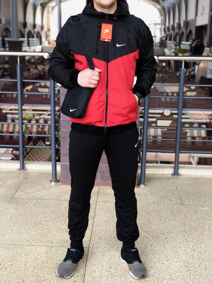 b814d089 Мужской спортивный костюм Nike (black/red) (ветровка+штаны, БАРСЕТКА ...