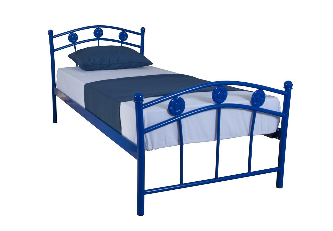 Кровать Чемпион детская односпальная 200х80, ультрамарин