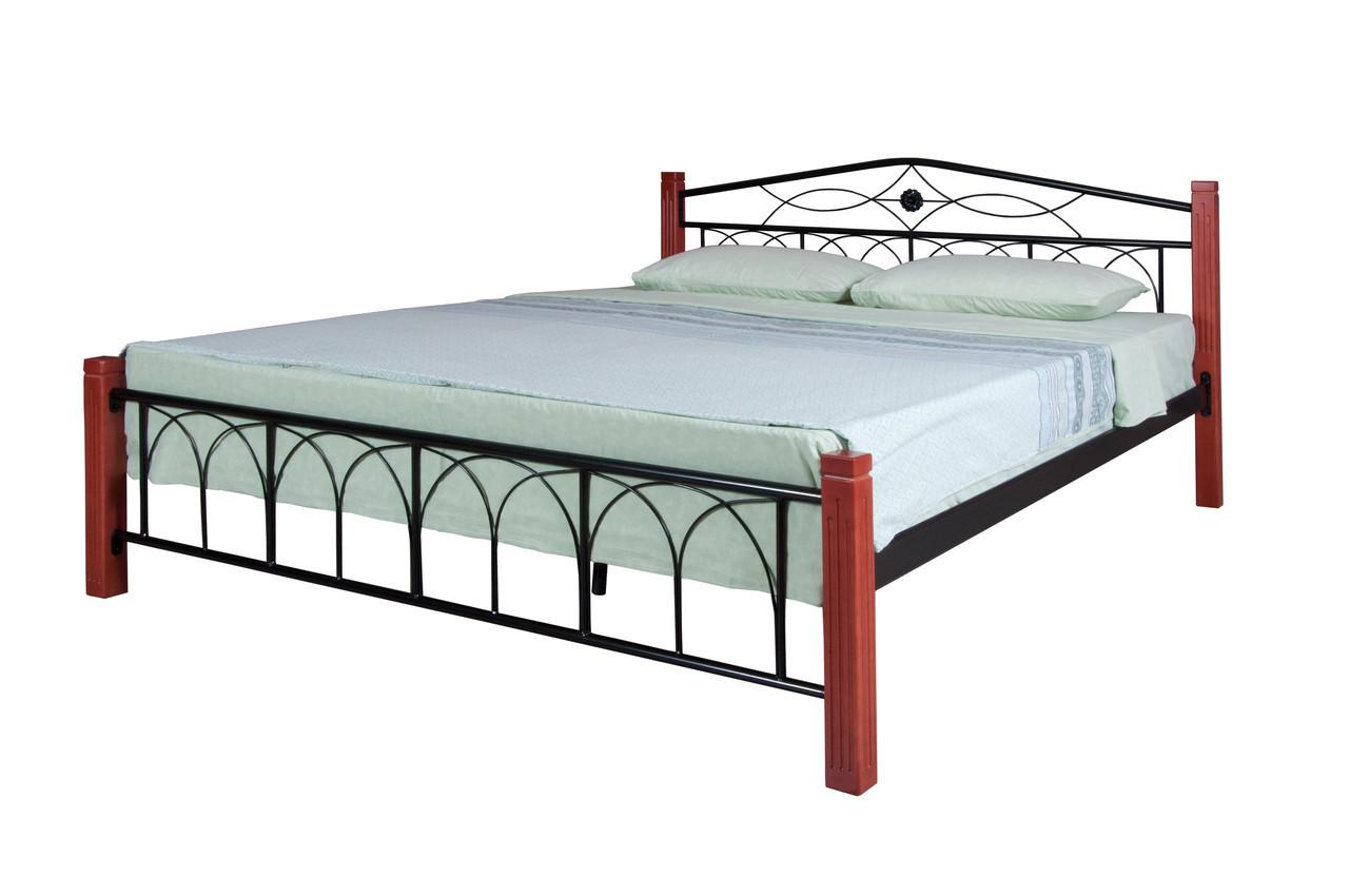 Кровать Элизабет  двуспальная 190х160, бордовая