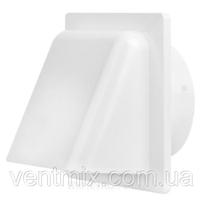 Вентиляционный колпак с клапаном и фланцем 140 х140 мм d 100