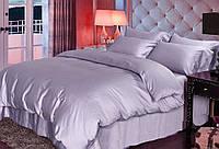 Полуторное постельное белье Сатин однотонный / Простынь на резинке / Постільна білизна / 7A12C2 - 1857