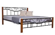 Ліжко Емілі двоспальне 190х160, коричнева