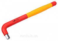 Ключ шестигранный Г-образный диэлектрический YATO HEX 10 x 52 x 235 мм VDE до 1000 В