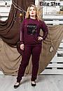 Спортивный женский костюм в больших размерах 6blr1314, фото 5