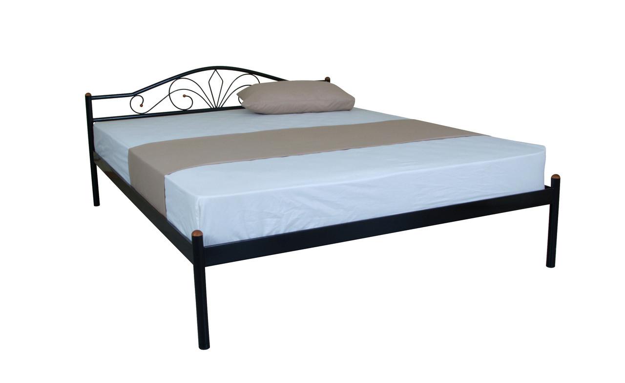 Кровать Лара двуспальная 200х180, ультрамарин