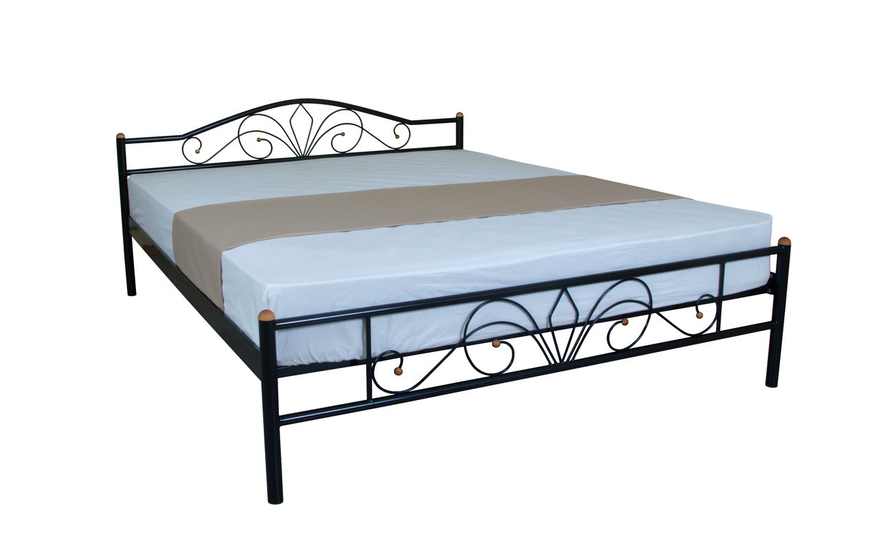 Металева двоспальне ліжко Лара Люкс 200х140, біла