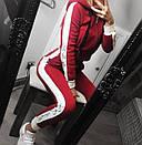 Трикотажный спортивный костюм на флисе с лампасами 68spt552, фото 4