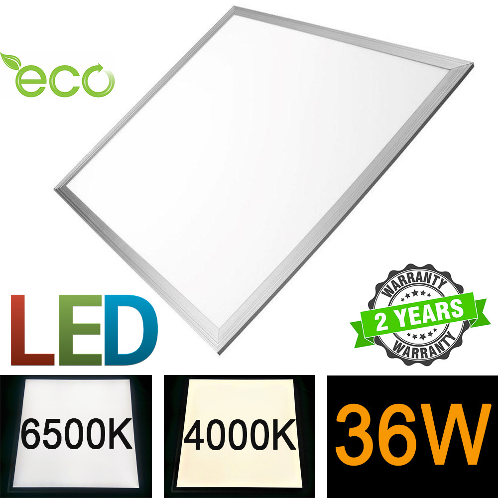 Светодиодная LED панель 600х600 мм ВСТРАИВАЕМАЯ 36Вт 4000/6500К 2800lm матовая с алюминиевой рамкой серия ЕСО