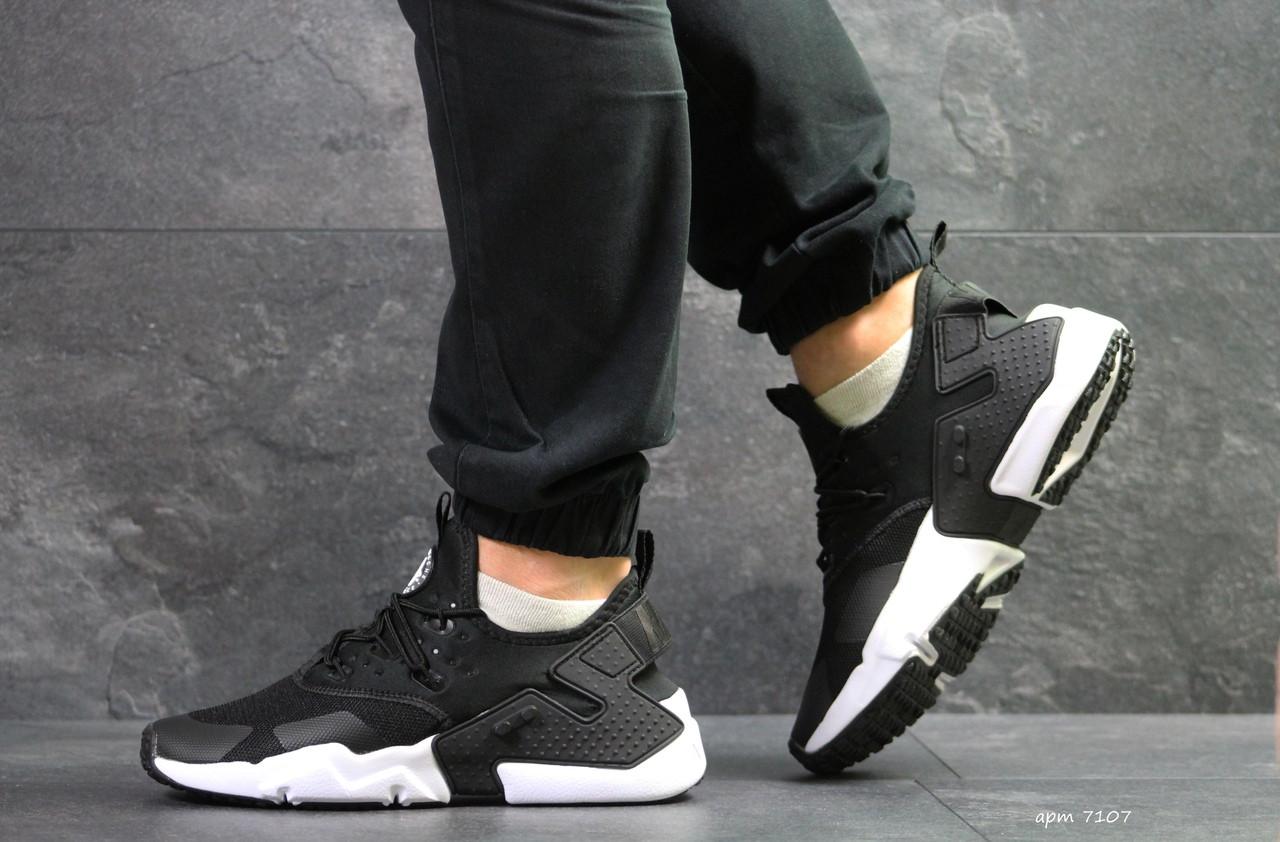 Мужские демисезонные  кроссовки Nike Air Huarache,черно-белые