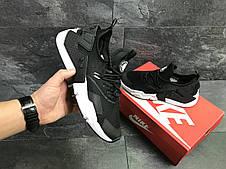 Мужские демисезонные  кроссовки Nike Air Huarache,черно-белые, фото 3