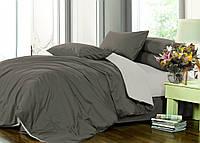 Двуспальный комплект постельного белья на резинке Сатин однотонный /микс / Постільна білизна сатин / 7A12C2 - 2138