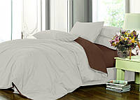 Полуторный комплект постельного белья на резинке Сатин однотонный, микс  / Постільна білизна сатин / 7A12C2 - 2145