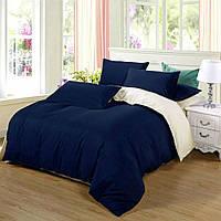 Семейный комплект однотонного постельного белья из сатина на резинке / Сімейний комплект постільної білизни / 7A12C2 - 2164