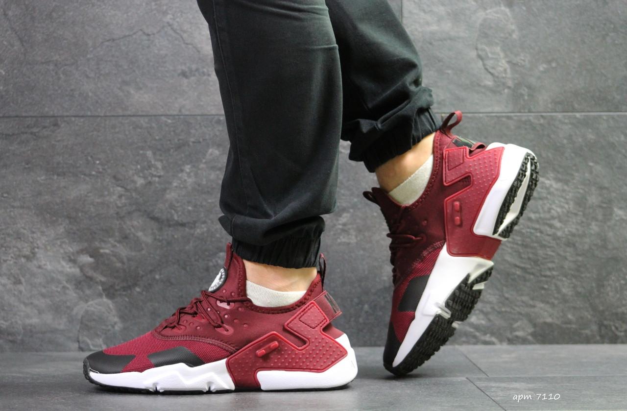 Мужские демисезонные  кроссовки Nike Air Huarache,бордовые 43,44р