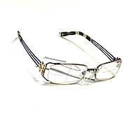 Женские очки в металлической оправе