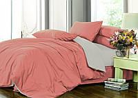 Семейный комплект однотонного постельного белья из сатина на резинке / Сімейний комплект постільної білизни / 7A12C2 - 2180
