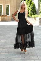 Платье черное комбинированное