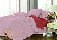 Семейный комплект однотонного постельного белья из сатина на резинке / Сімейний комплект постільної білизни / 7A12C2 - 2228