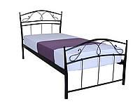 Односпальная железная кровать  Селена  190х80, черная