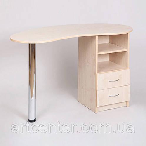Маникюрный стол с выдвижными ящиками, цвет дуб молочный