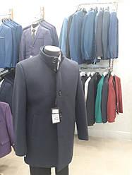 Пальто чоловіче демісезонне West fashion модель UM-12 синє