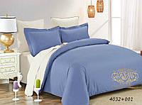 Евро комплект однотонного постельного белья из сатина / Євро комплект постільної білизни / 7A12C2 - 2343