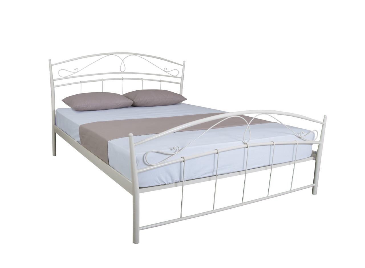 Двуспальная красивая кровать Селена  190х140, бордовая