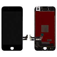 Дисплей для iPhone 7, модуль в сборе (экран и сенсор), с рамкой, черный, оригинал 100%
