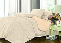 Евро комплект однотонного постельного белья из сатина / Євро комплект постільної білизни / 7A12C2 - 2383