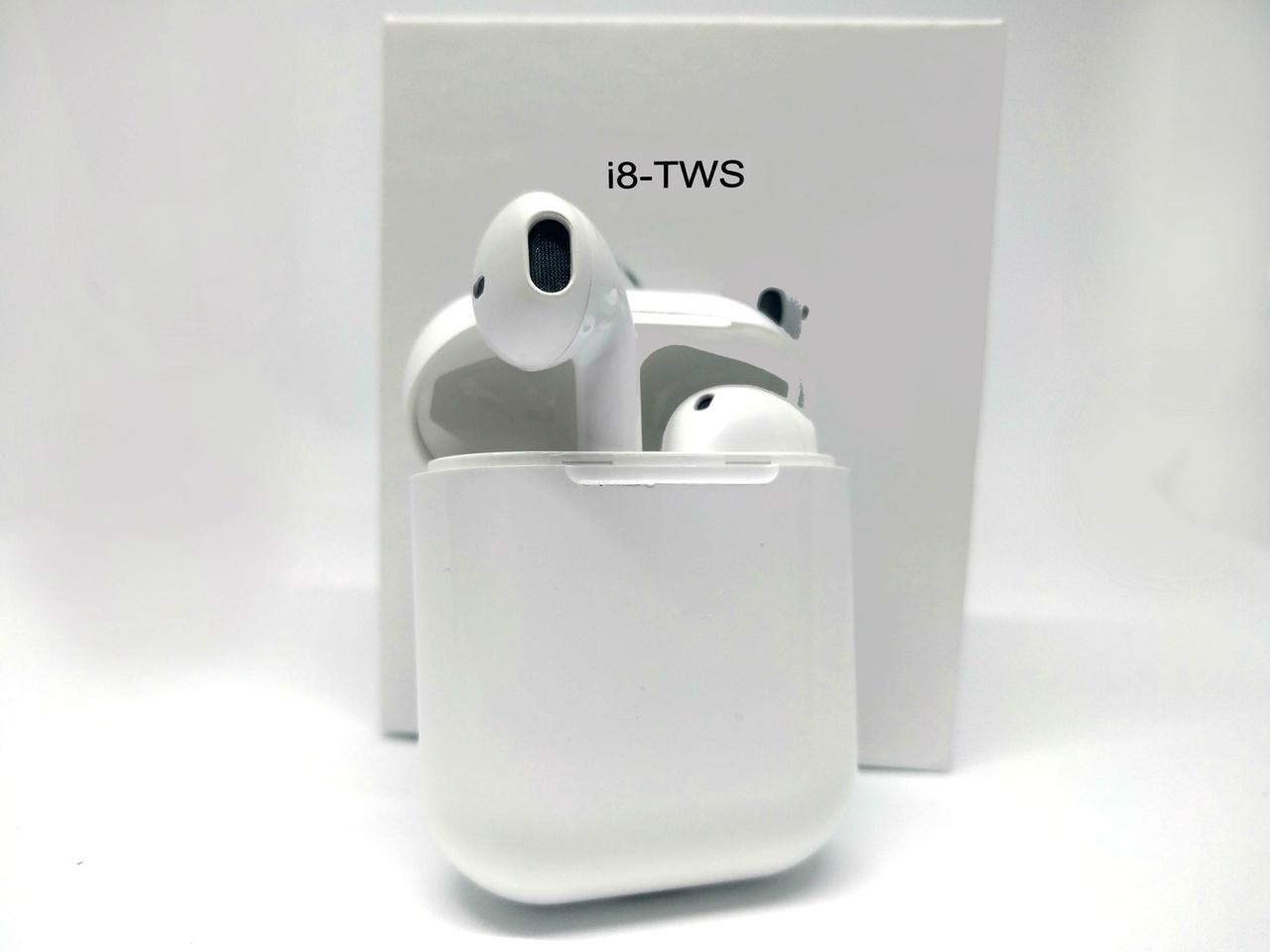 Беспроводные bluetooth наушники TWS с доп станцией HBQ i8 white