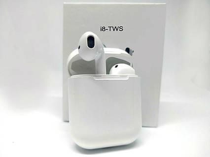 Беспроводные bluetooth наушники TWS с доп станцией HBQ i8 white, фото 2