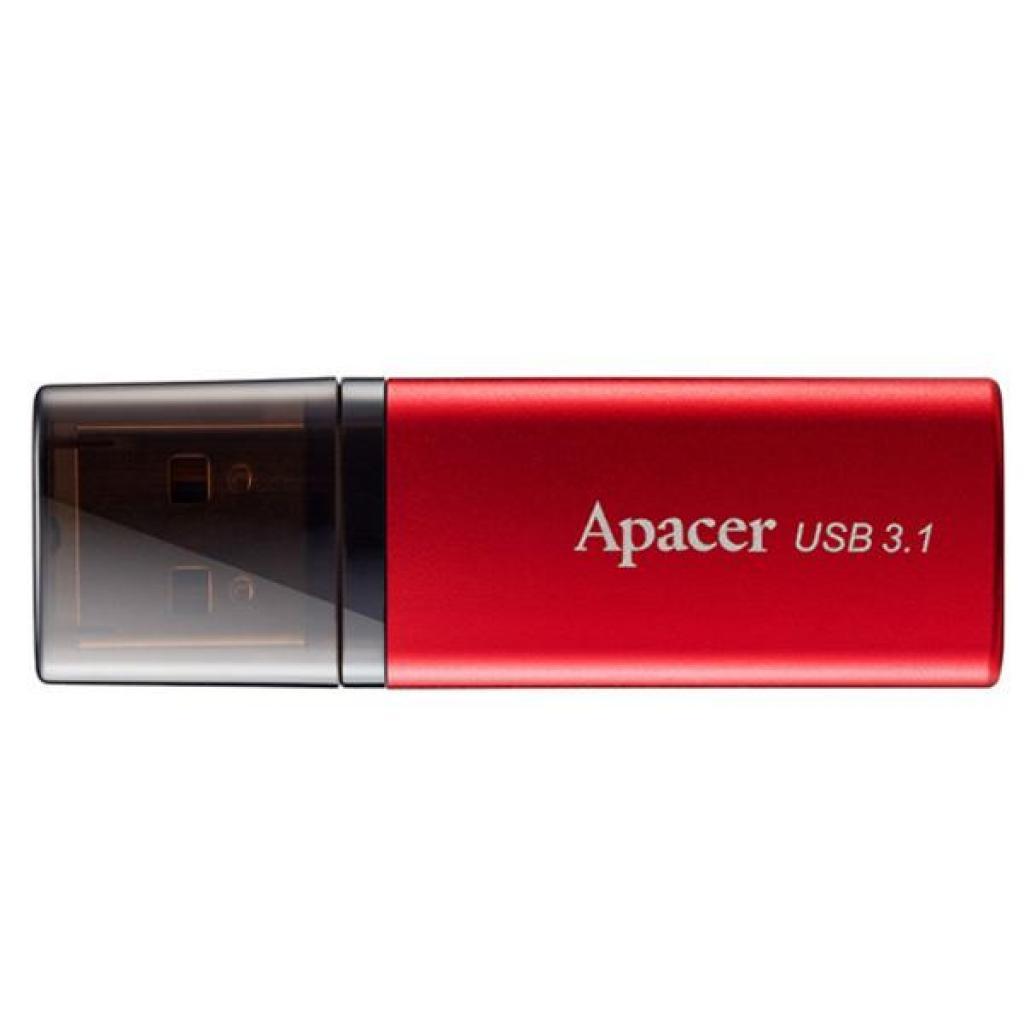 USB флеш накопитель Apacer 16GB AH25B Red USB 3.1 Gen1 (AP16GAH25BR-1)