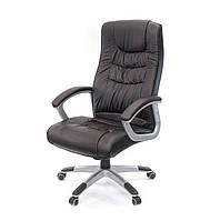 Кресло офисное на колесиках Арго New PL TILT черного цвета из экокожи