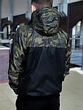 Мужской спортивный костюм Nike (black/military) (ветровка+штаны, БАРСЕТКА В ПОДАРОК), (Реплика ААА), фото 4
