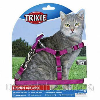 Шлейка с поводком для кота нейлон 26-37см/10мм Trixie 41891