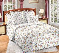 """Семейный комплект постельного белья """"Мильфлер"""" на резинке, перкаль / Сімейний комплект постільної білизни / 5A12C2 - 1461"""