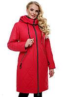 """Стильная женская куртка на молнии. """"Красный"""""""
